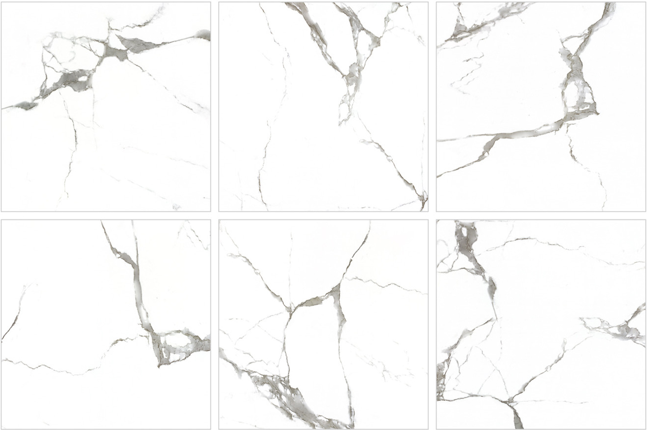 600X600 Calacatta Marble Look Porcelain Image