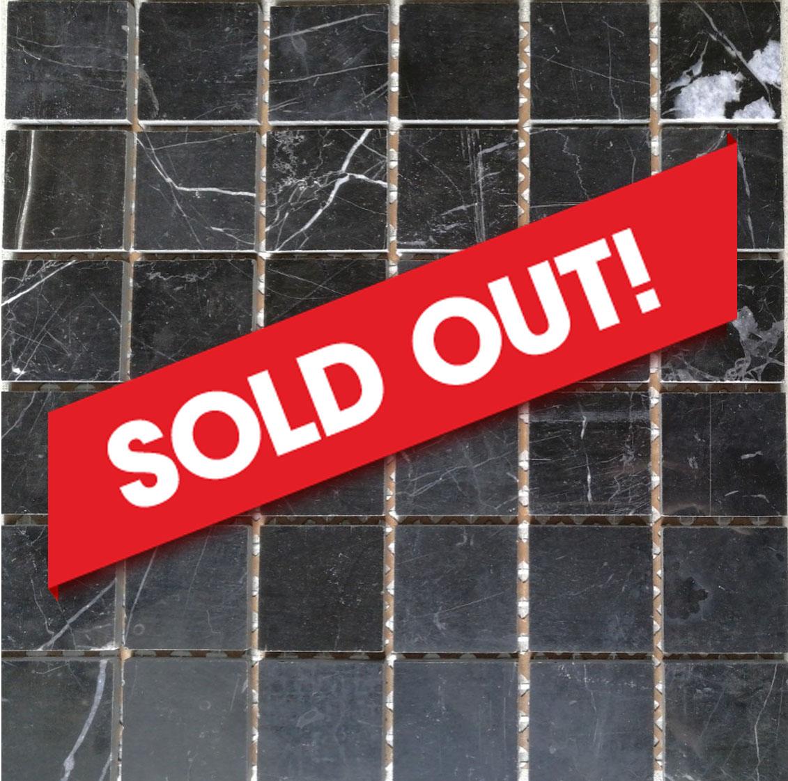 Ice Black Marble Mosaic Image